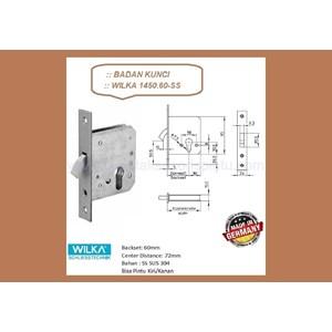 Kunci Handle Pintu Badan Kunci Wilka 1450/60-SS
