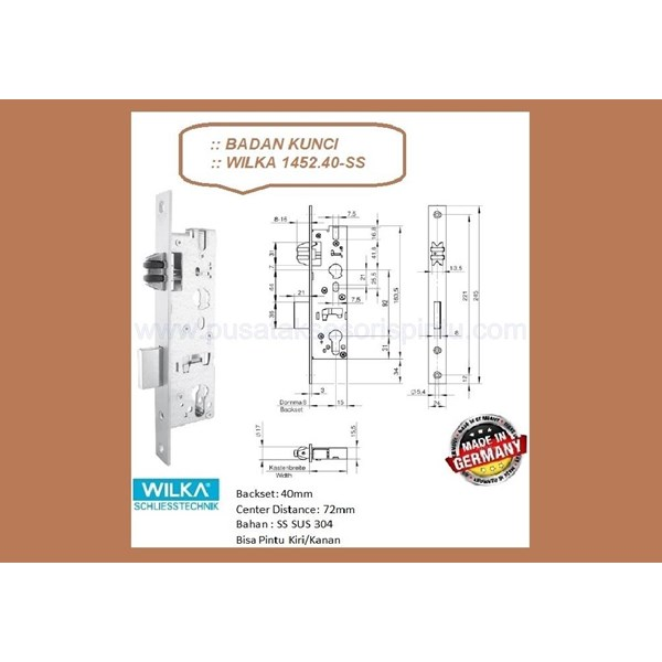 Kunci Badan Kunci Wilka 1452/40-SS