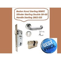 Sterling Handle Pintu Set 2802-SSS