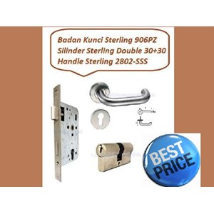Handle Pintu Set Sterling 2802-SSS