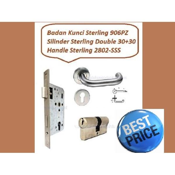 Handle Set Sterling 2802-SSS