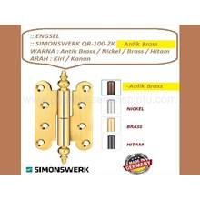Engsel Pintu dan Jendela Simonwerk QR-100-Antik Brass