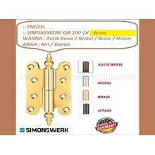 Door and Window Hinge Simonswerk QR-100-ZK-Brass