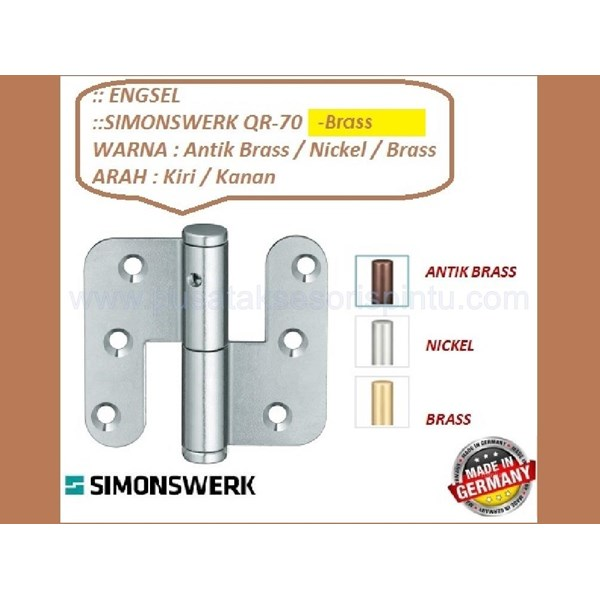 Engsel Pintu dan Jendela Simonswerk QR-70-Brass