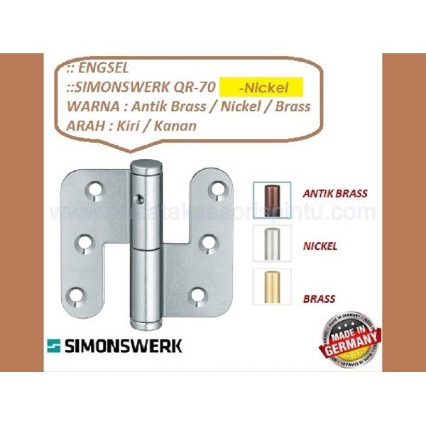 Engsel Pintu dan Jendela Simonswerk QR-70-Nikel