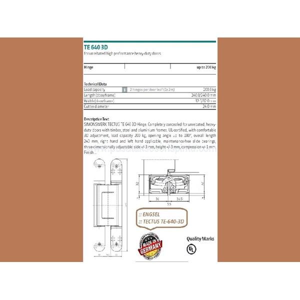 Tectus Hinge TE-640-3D