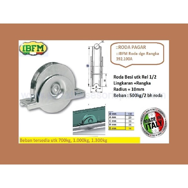 Roda Pagar IBFM 392.100A