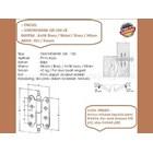 Engsel Pintu dan Jendela Simonswerk QR-100-ZK-Antik Brass 2
