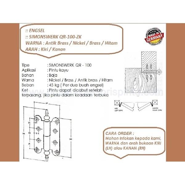 Engsel Pintu dan Jendela Simonswerk QR-100-ZK-Antik Brass