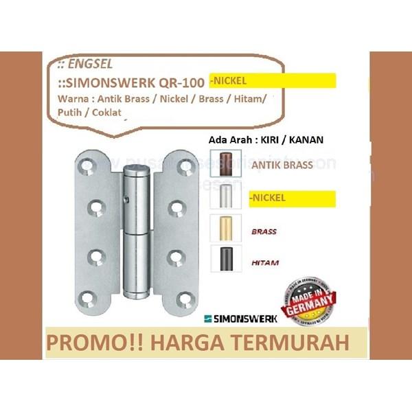 SALE Engsel Pintu dan Jendela Simonswerk QR-100-Nickel