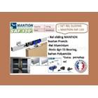 Set Pintu Geser Mantion SAF - 120 - 200 + Penutup Rel 1