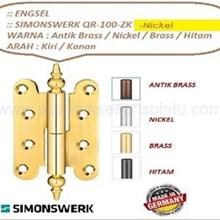 Hinges Doors and QR-100-ZK-Nickel Simonswerk Windo