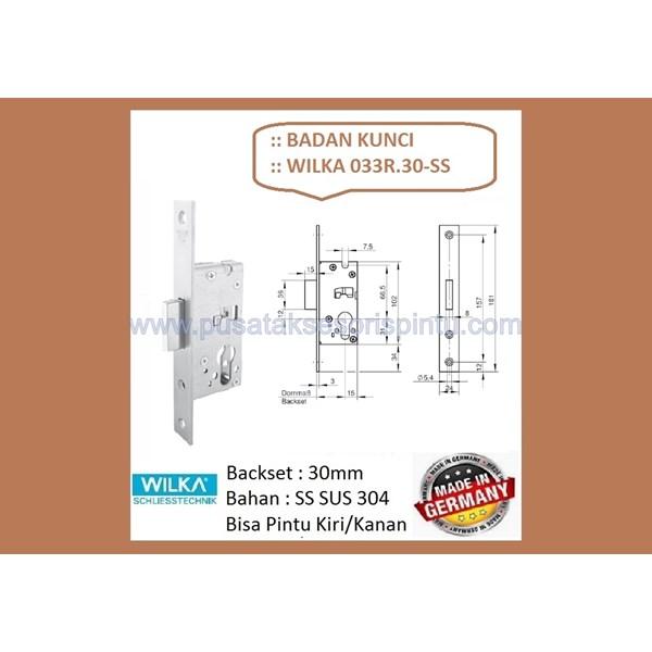 Badan Kunci Wilka 033R/30-SS