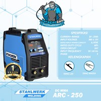 Mesin Las DC MMA Arc-250 - 3Ph - 380V Stahlwerk