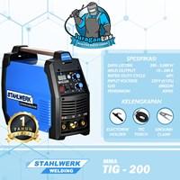 Mesin Las Tig-200A DC TIG + MMA Stahlwerk