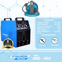 Mesin Las DC MMA Arc-400 IGBT Stahlwerk