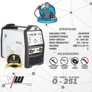 Dari O-251 Vector AC/DC TIG Pulse + MMA + Plasma Cutting Machine 0