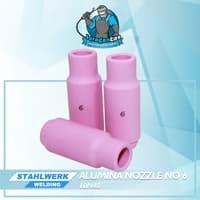 Alumina Nozzle / Keramik Argon no.6untuk WP-17 / 26/ 18