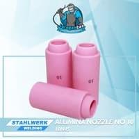 Alumina Nozzle / Keramik Argon no.10 untuk WP-17 / 26/ 18