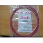 Peralatan Las MIG Teflon Liner Euro type diameter 1.2mm panjang 3 meter 1