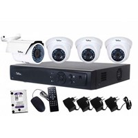 Paket Kamera CCTV Telview 4 Chanel