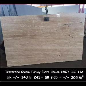 Dari Travertine Slab Cuci Gudang Travertine Turky 1