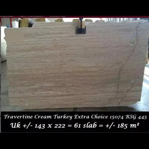 Dari Travertine Slab Cuci Gudang Travertine Turky 3