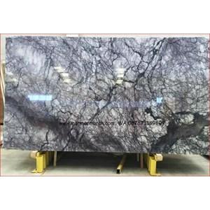 Marmer Violetta Marmer Biru Putih Marmer Import Turky-Slab