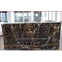 Jual Marmer Portoro Gold Marmer Hitam Corak Abstak Marmer Hitam Import China-Slab 2
