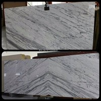 Marmer Statuario Venato Marmer Putih Import Italy Slab 1