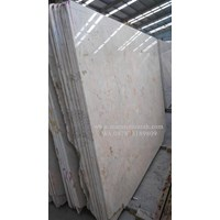 Marmer Ujung Pandang Marmer Makasar Cream Light Marmer Lokal-Slab 1