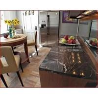 Jual Meja Marmer Coklat Tua Ex China Meja Dapur Kitchen Wastafel Bar Pantry Counter 2