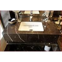 Meja Marmer Coklat Tua Ex China Meja Dapur Kitchen Wastafel Bar Pantry Counter Murah 5