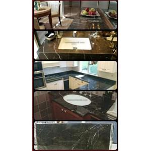 Meja Marmer Coklat Tua Ex China Meja Dapur Kitchen Wastafel Bar Pantry Counter
