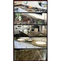 Meja Marmer Coklat Tua Ex Spanyol Meja Dapur Kitchen Wastafel Bar Pantry Counter Dll