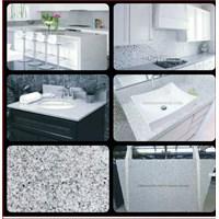 Jual Meja Granit Putih Import Meja Granit Star White Meja Dapur Meja Kitchen Meja Wastafel Meja Bar Meja Pantry Meja Counter Meja Rias Meja Roti Meja Saji