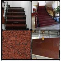Jual Tangga Granit Merah Polos Import Ex.India (T6)