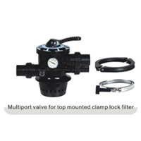 Multiport Valve For Top Mounted Clamp Lock Filter