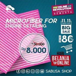Lap Microfiber Serat Bambu for Engine Detailing