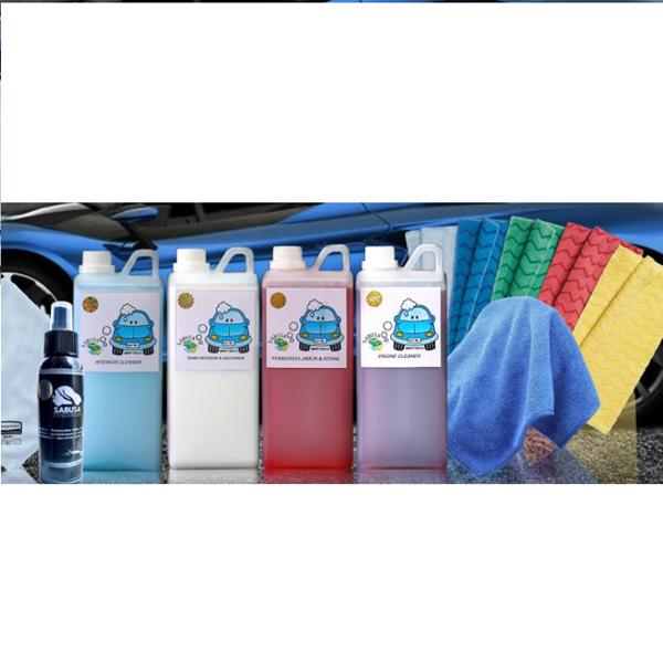Paket Lengkap SABUSA 1 Liter Lap Microfiber Quick Wax 100ml