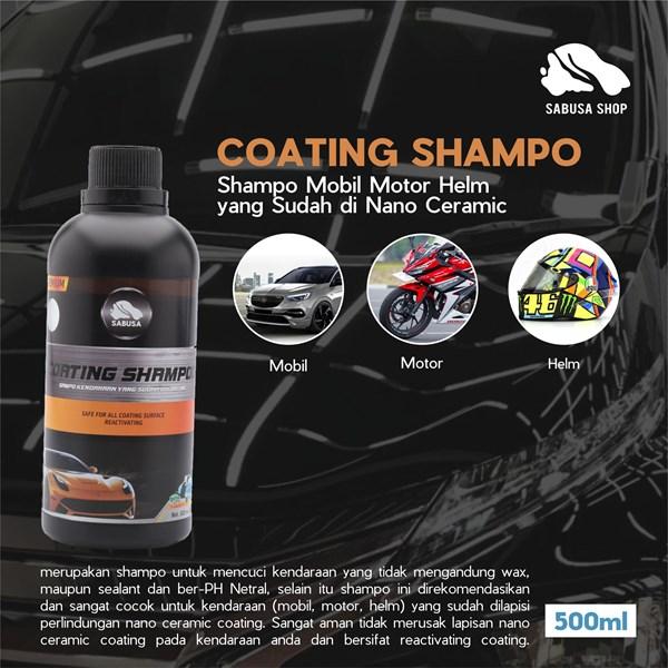 Shampo Mobil Motor Helm Yang Sudah Di Nano Ceramic Coating SABUSA 500ml