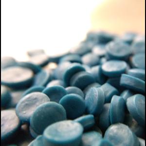 Pellet Plastik HDPE Biru