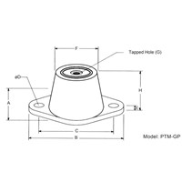 PTM-GP • FLOOR MOUNTED RUBBER VIBRATION ISOLATOR