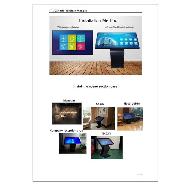 TV LCD Multimedia LCD Touch Screen 43 Inch