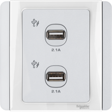 Schneider Electric Neo 2 Gang USB Charger type E3032USB_WW