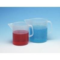 Alat Laboratorium Umum Cole Parmer Low Form Pp Beakers With Handle And Pour Spout 3000 Ml 2 Pk 1