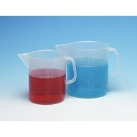 Alat Laboratorium Umum Cole Parmer Low Form Pp Beakers With Handle And Pour Spout 5000 Ml 1 Pk