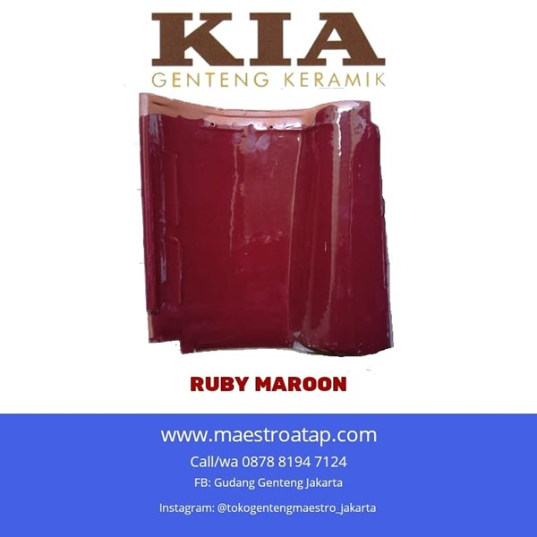 Genteng Keramik KIA Ruby Marron
