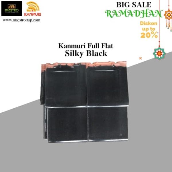 Genteng Keramik Full Flat Silky Black