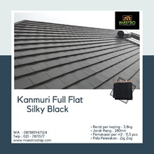 Tile Kanmuri Full Flat Silky Black